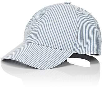 Barneys New York MEN'S SEERSUCKER BASEBALL CAP