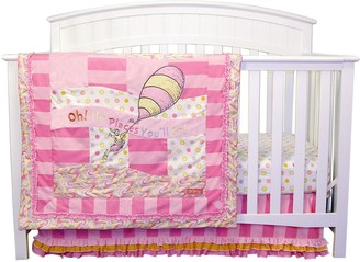 Trend Lab Dr. Seuss Oh The Places You'll Go! Pink 3-pc. Crib Bedding Set
