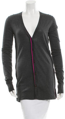 Vera Wang Long Sleeve V-Neck Cardigan $85 thestylecure.com