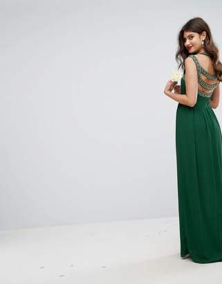 TFNC WEDDING Embellished Back Maxi Dress