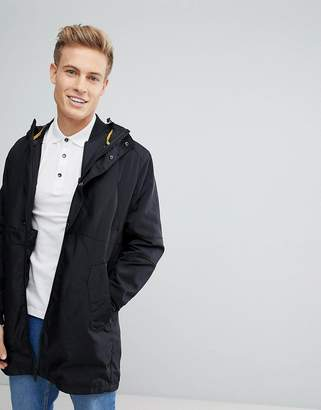 Jack and Jones Core Parka In Water Repellent Tech Fabric With Removable Bomber Jacket