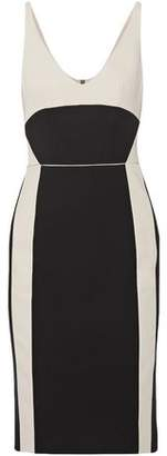 Narciso Rodriguez Two-Tone Wool-Twill Dress