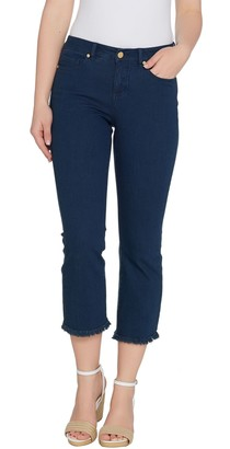G.I.L.I. Got It Love It G.I.L.I. Regular Cropped Flare Jeans with Frayed Hem
