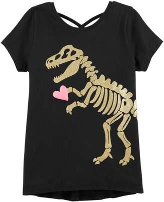 Carter's Girls 4-14 Dinosaur & Heart Graphic Tee
