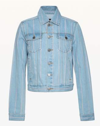 Juicy Couture Pinstripe Denim Jacket