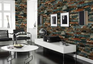 Laiman Brick Wallpaper, Textured, Removable and Waterproof for Home Design and Room Decoration, Super Large Size 10m x 0.53m / 393.7'' x 21''