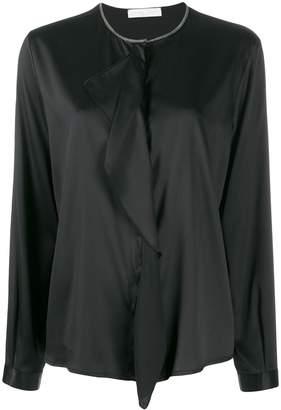 Fabiana Filippi embellished neckline shirt