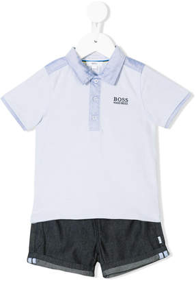 Boss Kids polo shirt and shorts set