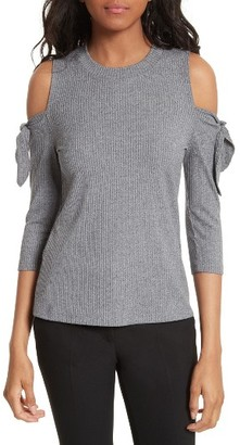 Women's Rebecca Taylor Cold Shoulder Ribbed Jersey Top $225 thestylecure.com
