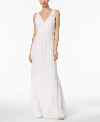 Adrianna Papell Scoop-Back Mermaid Gown