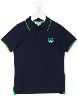 Kenzo logo patch polo shirt