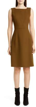 Lafayette 148 New York Jojo Wool Crepe Sheath Dress