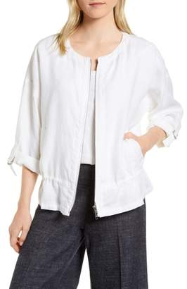 Eileen Fisher Drawstring Organic Linen Jacket