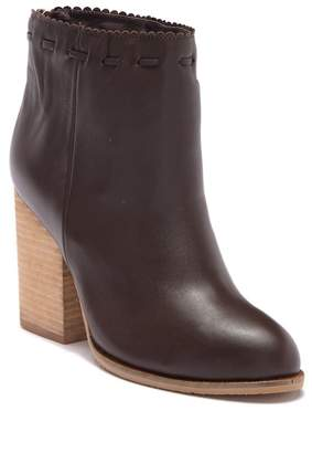 Antelope Scallop Trim Leather Bootie