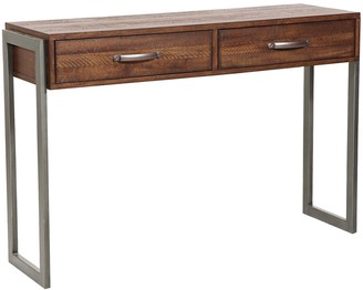 Right2home Right2Home Distressed Industrial Console Table