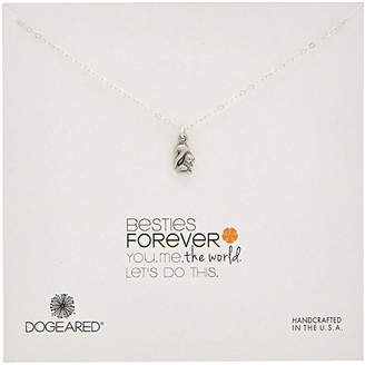 Dogeared Make A Wish Silver Squirrel Necklace