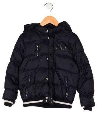 0cc1ded63 Armani Junior Blue Boys  Outerwear - ShopStyle