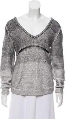 Helmut Lang V-Neck Knit Sweater