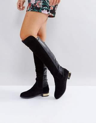 Carvela Suede Knee High Flat Boot