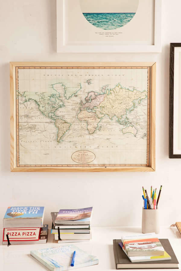 Adam Shaw Vintage World Map (1801) Art Print