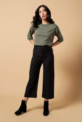Azalea Soft 3/4 Sleeve Crop Top