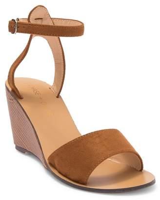 Chase & Chloe Kenzie Open Toe Stacked Wedge Sandal