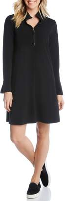 Karen Kane Quarter Zip A-Line Dress