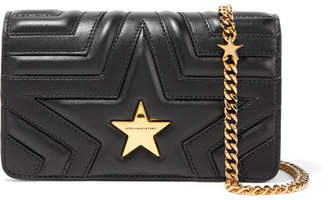 Stella McCartney Star Quilted Faux Leather Shoulder Bag - Black
