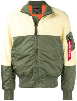 Alpha Industries two-tone bomber jacket