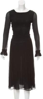 Cacharel Long Sleeve Pleated Dress w/ Tags