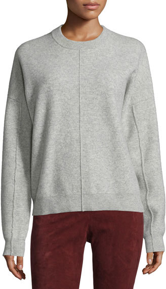 JOSEPHJoseph Compact Wool Crewneck Sweatshirt, Marble