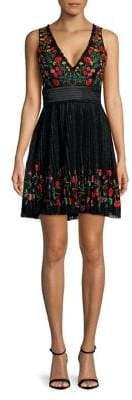 French Connection Amity Lace V-Neck Dress