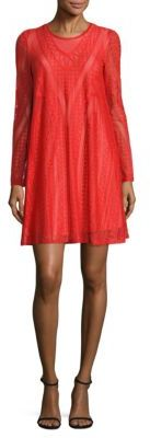 BCBGMAXAZRIA Solid Knit Lace Dress $198 thestylecure.com