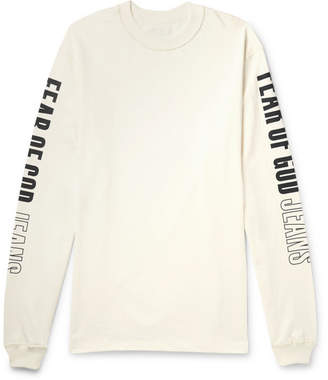 Fear Of God Oversized Printed Cotton-Jersey T-Shirt