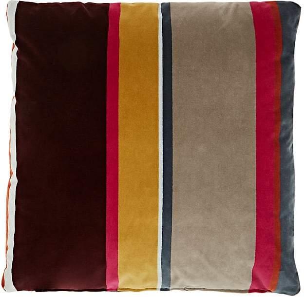Lori Shinal Striped Velvet Pillow