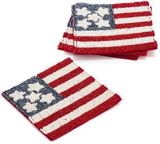 38be56f35259 Sur La Table Beaded American Flag Coasters