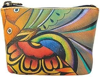 Anuschka Women's Leather Coin Purse | Genuine Soft Leather, Hand-painted Original Art |