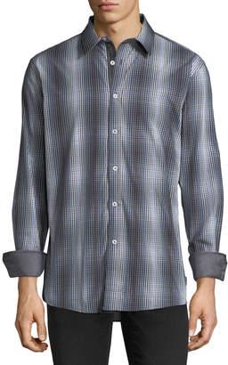 English Laundry Tie-Dye Check Sport Shirt