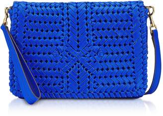 Anya Hindmarch Electric Blue Calf Leather The Neeson Cross Body