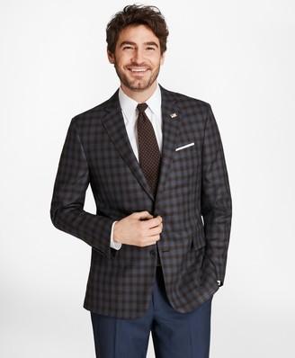 Brooks Brothers Regent Fit Saxxon Wool Check Sport Coat