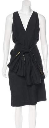 Dries Van Noten Bow-Accented Linen-Blend Dress