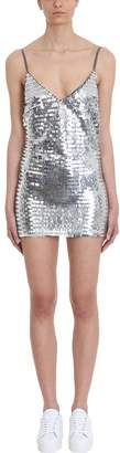 Chiara Ferragni Silver Sequins Dress