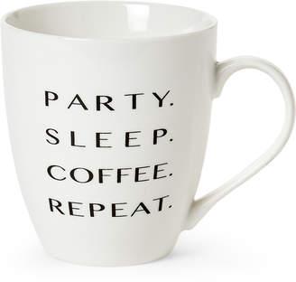 Pfaltzgraff Party. Sleep. Coffee. Repeat. Mug