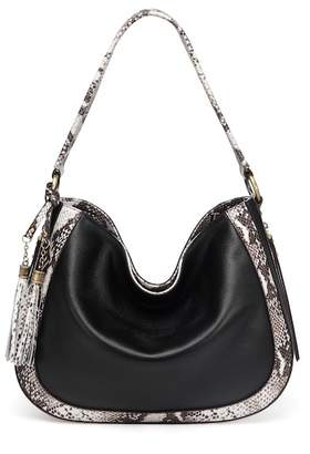 Vicenzo Leather Cadence Snake Print Leather Bag