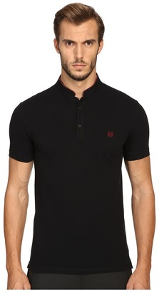 The Kooples - Sport Fitted Officer Collar Polo Men's Short Sleeve Pullover $120 thestylecure.com