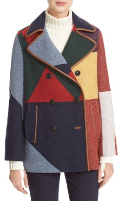 Tory Burch Cheval Colorblock Peacoat $795 thestylecure.com