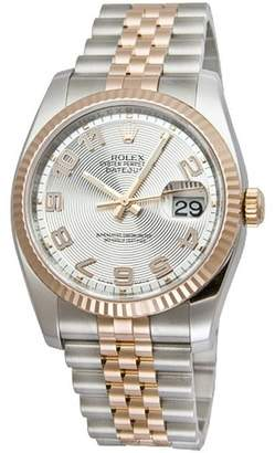 Rolex Datejust Silver Concentric Arabic Dial Jubilee Bracelet Two Tone Men's Watch Watch