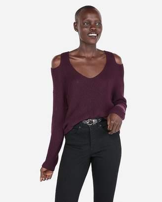 Express Slash Shoulder Tunic Sweater