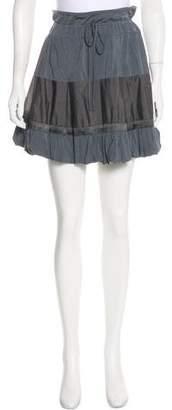 Marithé + François Girbaud Pleated Mini Skirt