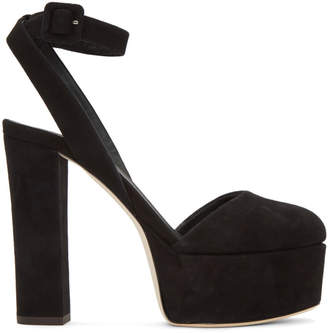 Giuseppe Zanotti Black Suede Lavinia Platform Heels